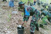 Usai pelaksanaan UST Ki Yonif 742/SWY, Kasrem 162/WB Pimpin Tanam Pohon