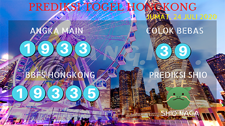 Prediksi Togel Angka Jadi Hongkong HK Jumat 24 Juli 2020