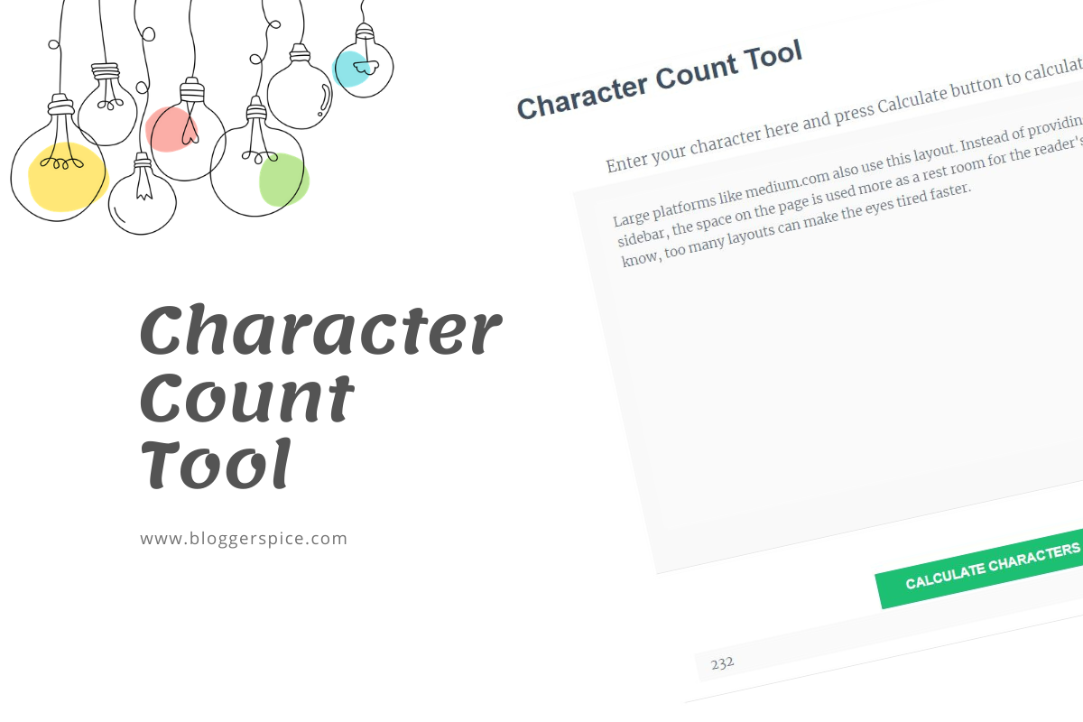 Online Character Count Tool