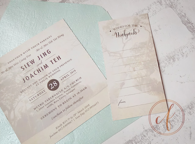 Postcard Wedding Invitation Card with Photograph, Save The Date, Perforation