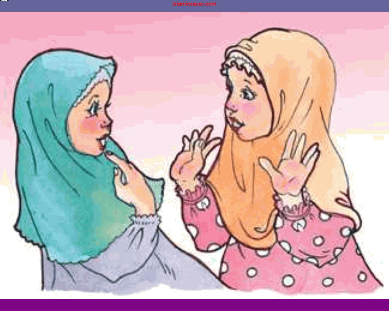 Kartun Muslim Sakit Kolek Gambar