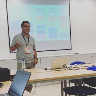 Formador Jorge Cunha in Measure camp Faro