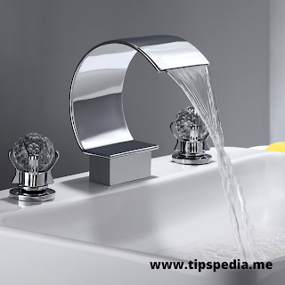 widespread waterfall bathroom sink faucet