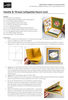 Printable Tutorial for Collapsible Room Card ~ Needle & Thread ~ 2019 Occasion Catalog ~ Fun Fold Card ~ www.juliedavison.com