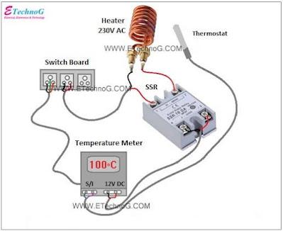 thermostat heater wiring diagram