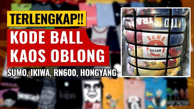 Kode Ball Kaos Oblong Cowok Pada Bisnis Thrifting