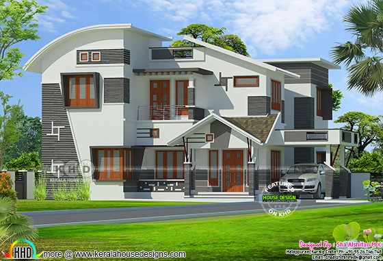 Mixed roof modern contemporary 2476 sq-ft house