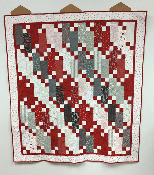 Four Patch Frenzy Quilt designed by Jenny of Missouri Quilt Co
