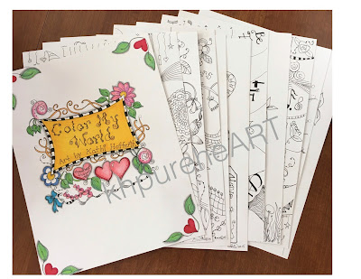 "New! ""Color My World"" Coloring Book Packet~"