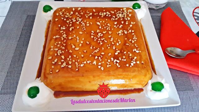Tarta-flan De Queso Y Almendras