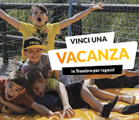 Logo Vinci gratis una vacanza per ragazzi in Trentino ( da 7 a 17 anni)