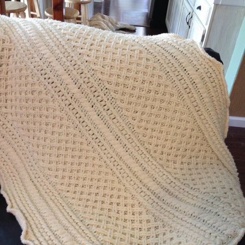 Lattice Weave Throw - Free Pattern