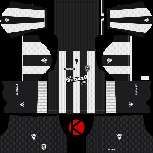 90b2197cd81 PAOK FC 2018/19 Kit - Dream League Soccer Kits - Kuchalana