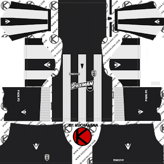 and the package includes complete with home kits Baru!!! PAOK FC 2018/19 Kit - Dream League Soccer Kits