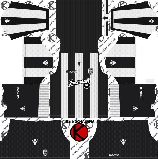 PAOK FC 2018/19 Kit - Dream League Soccer Kits