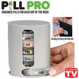 Pill Pro Organizer Tempat Simpan Obat Kotak Penyimpanan Pill Capsule