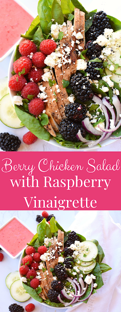 Raspberry Chicken Salad with Raspberry Vinaigrette