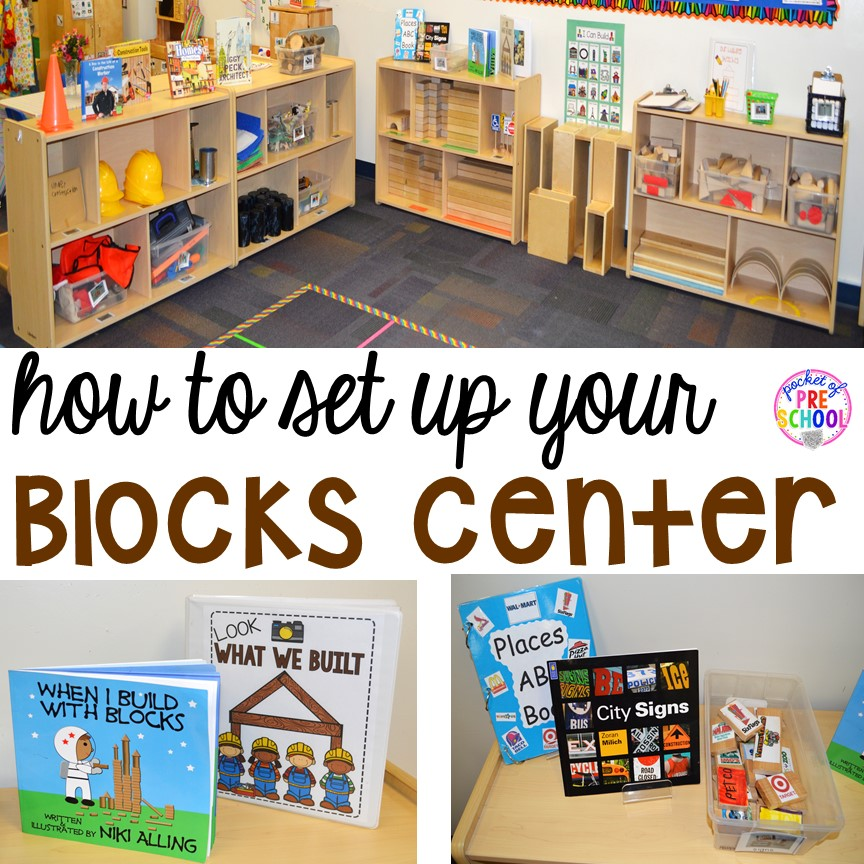 Classroom Ideas For Preschoolers ~ How to set up the blocks center in an early childhood