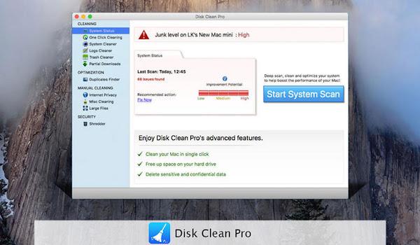 Disk Clean Pro: Mac Bilgisayarlar için Disk Temizleme Programı