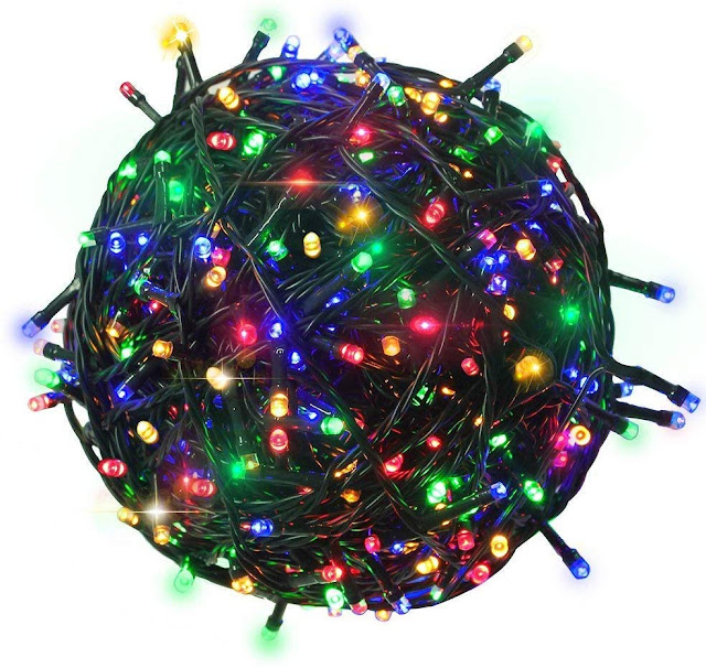 Citra 200 LEDs 45M Black/White Wire Fairy String Tree Twinkle Lights 8 Modes for Diwali Christmas Party, Outdoor, Garden, Wedding, Home Decoration (Multi Color)