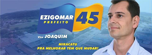 Ezigomar é eleito prefeito de Miracatu