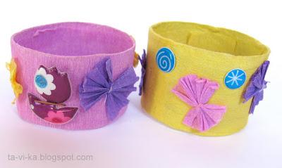 браслеты из рулончиков от туалетной бумаги