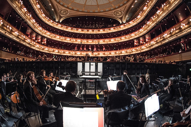The view from the main stage orchestra pit at the Royal Opera House - credit ROH/Sim Canetty Clarke 2014
