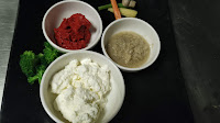 Curd ginger garlic paste chilly paste for Tandoori chicken recipe