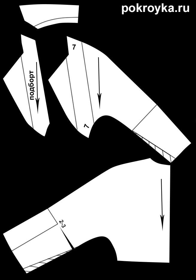 Выкройка короткого жакета-болеро