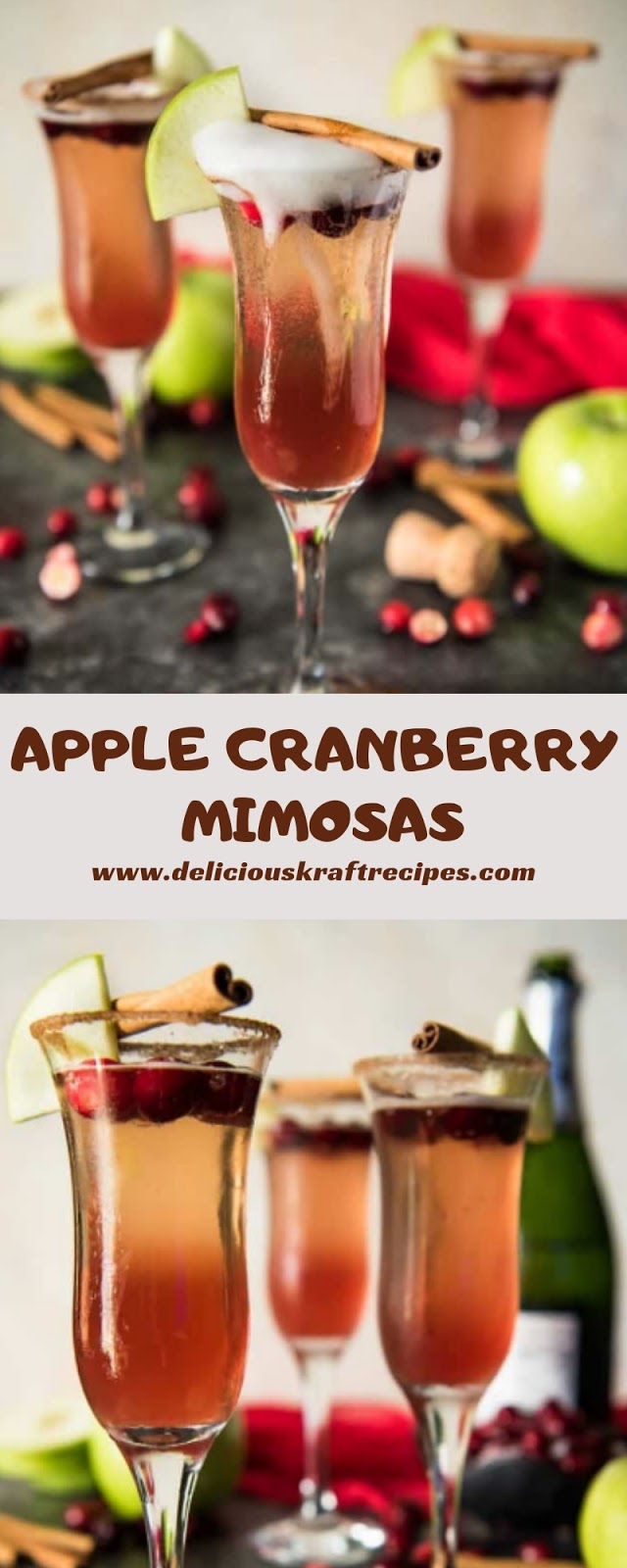 APPLE CRANBERRY MIMOSAS