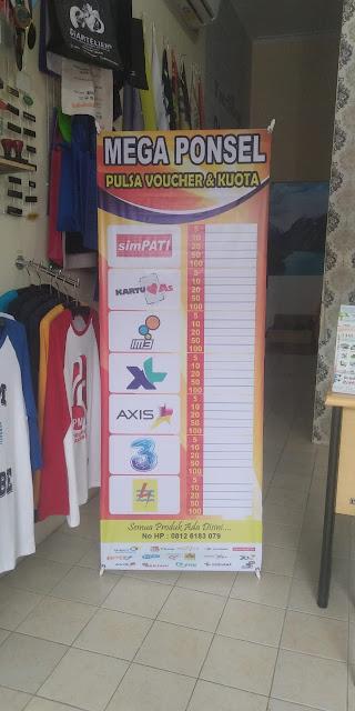 X Banner Toko Mega Ponsel