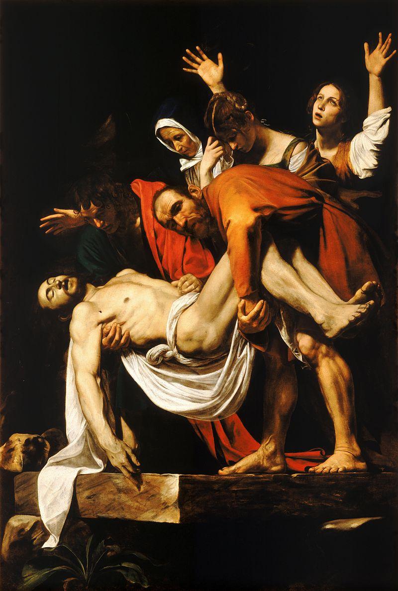 5. A Deposição de Cristo (1600-04) - Talvez a obra mais famosa de Caravaggio. O drama e a teatralidade imperam.