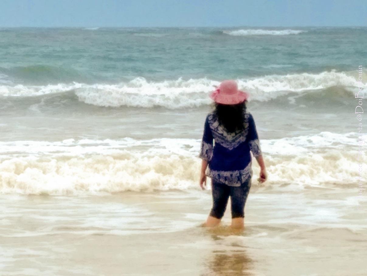 Talsari sea beach and the Bay of Bengal