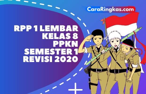 RPP 1 Lembar PKN Kelas 8