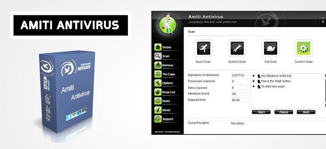 تحميل برنامج الحماية و مكافحة الفيروسات Amiti Antivirus