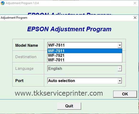 โปรแกรมเคลียร์ซับหมึก รีเซ็ต Reset WF7511-WF7521-WF7011