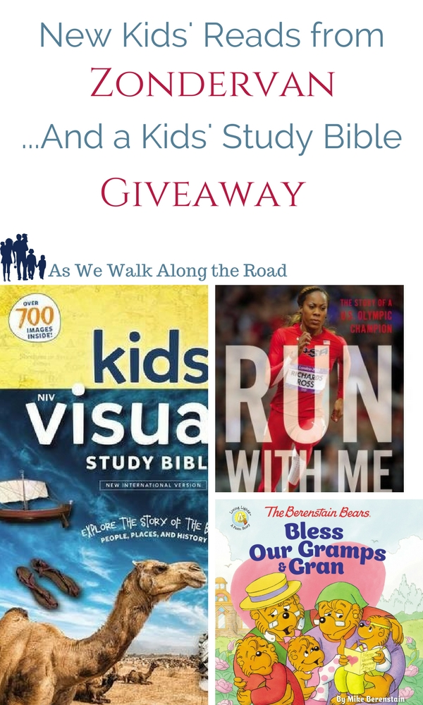 Three kids books from Zondervan and a Kids' Study Bible giveaway