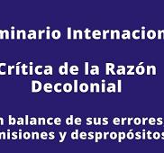 Seminario sobre pensamiento decolonial