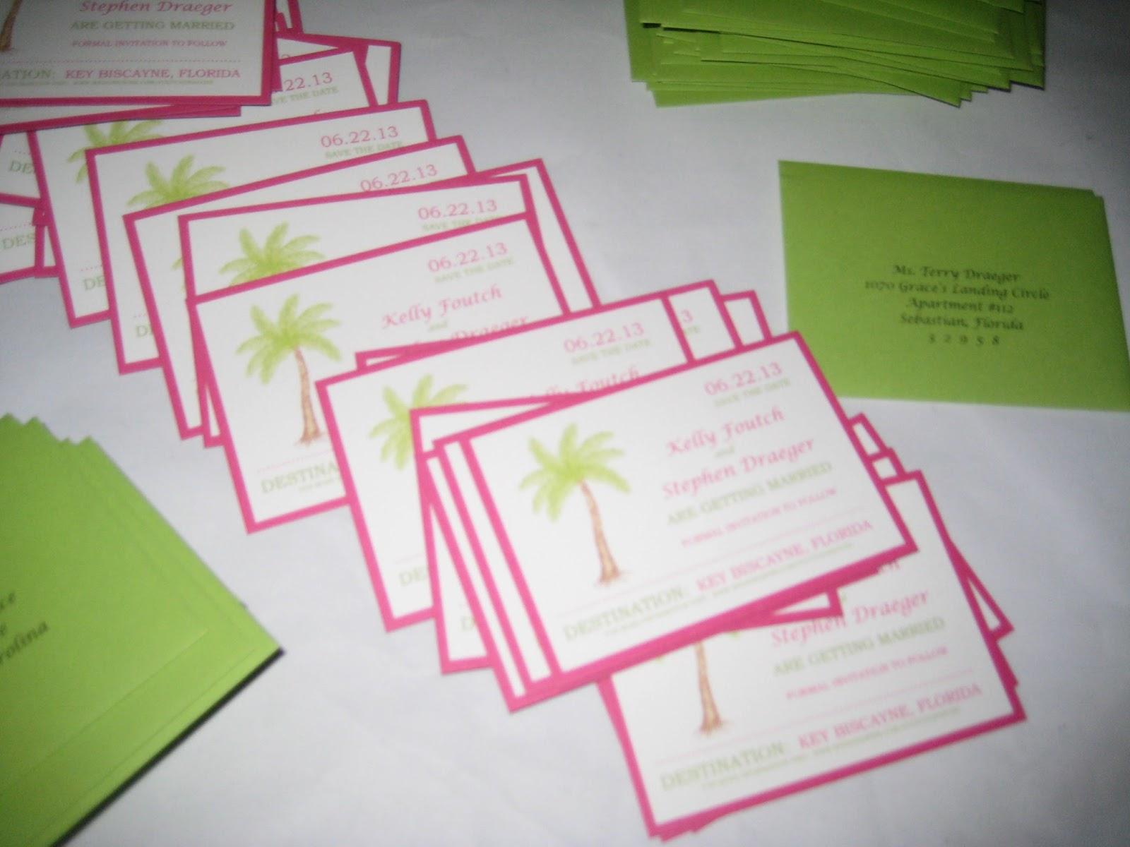 Preppy Destination Wedding Invitations
