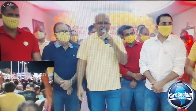 Tupanatinga: Convenção Partidária  para homologação dos nomes de Tomé e Carlos de Idelfonso leva uma multidão a Praça Cel José Emilio.