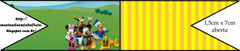 Free Mickey Clubhouse Food Flags.
