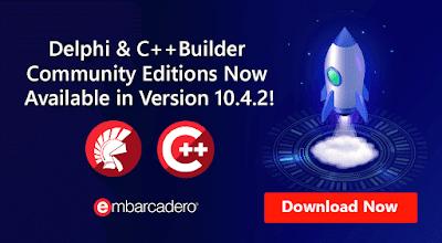 Выпущены Delphi и C++Builder 10.4.2 Community Edition