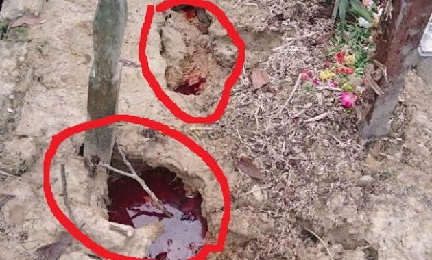 Astagfirullah, Makam Wanita Ini Keluarkan Darah Dan Bau Amis, Warga Yakin Ini Siksa Alam Kubur