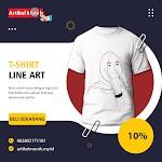 T-Shirt : Line Art Cewe Pree Order