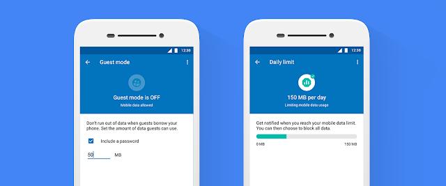 datally ahorro de datos en modo invitado