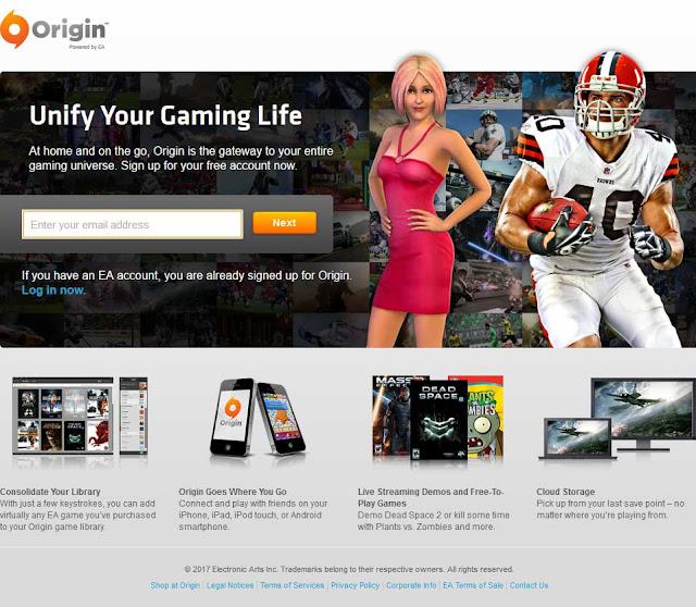 Cara Membuat [Daftar] Akun EA Origin PC Terbaru