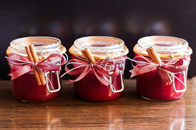 3 jars of cranberry sauce