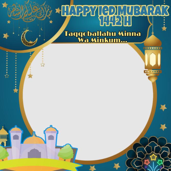 Bingkai Logo Ucapan Selamat Idul Fitri 2021