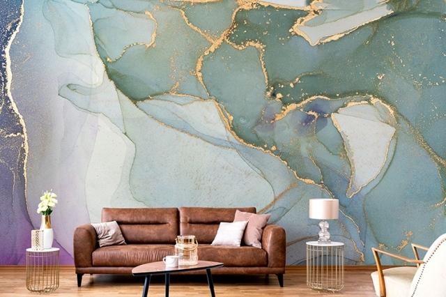 La parete del soggiorno dichiara il suo stile. Arredare Casa Con La Carta Da Parati Tutte Le Tendenze Del 2020 Glam Style