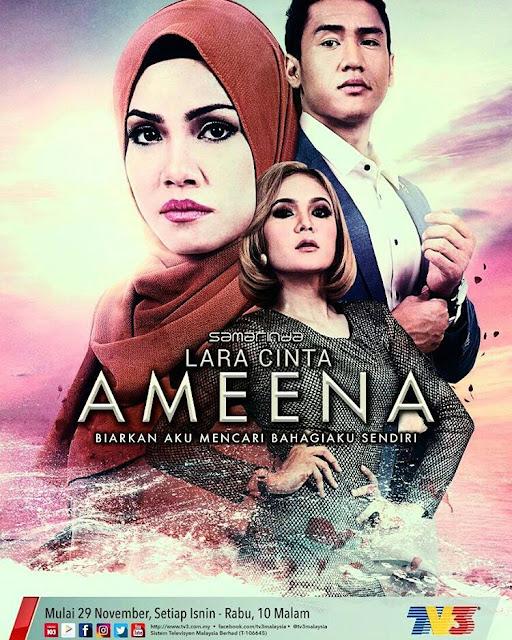 Drama Lara Cinta Ameena ,Lakonan Raja Afiq, Tiz Zaqyah